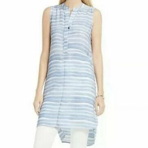 Vince Camuto Striped Henley Tunic